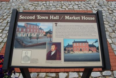 Second Town Hall / Market House Marker image. Click for full size.
