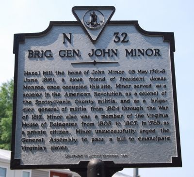 Brig. Gen. John Minor Marker image. Click for full size.