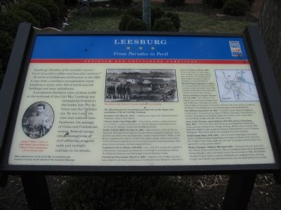 Leesburg - From Paradise to Peril Marker image. Click for full size.
