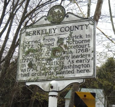 Berkeley County Marker Face image. Click for full size.