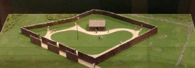 "Model of the 1932 Fort Necessity Replica, ""The Square Fort"" image. Click for full size."