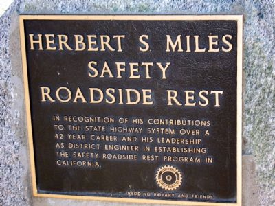 Herbert S. Miles Safety Roadside Rest Marker image. Click for full size.