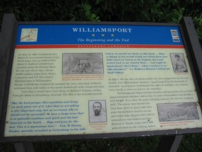 Williamsport - The Beginning and the End Marker image. Click for full size.