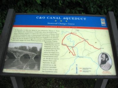 C & O Canal Aqueduct Marker image. Click for full size.