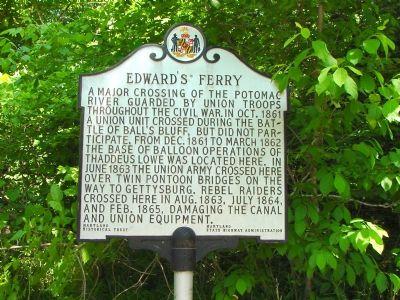 Edward's Ferry Marker image. Click for full size.