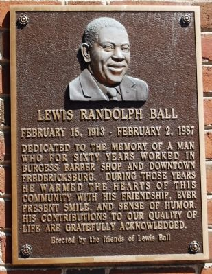 Lewis Randolph Ball Marker image. Click for full size.