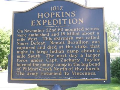 1812 Hopkins' Expedition Marker (north facing side) image. Click for full size.