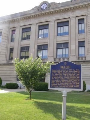 Delphi Marker and Courthouse image. Click for full size.