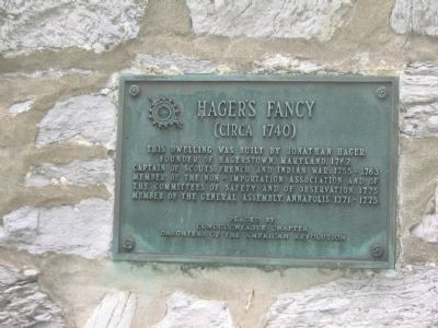 Marker on the Side of the Hager House image. Click for full size.