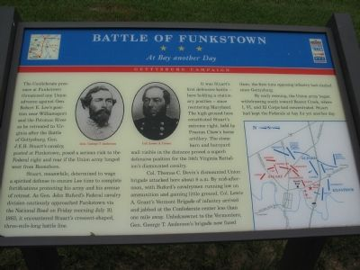 Battle of Funkstown - At Bay another Day Marker image. Click for full size.