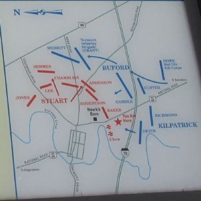Close up of the battlefield map. image. Click for full size.