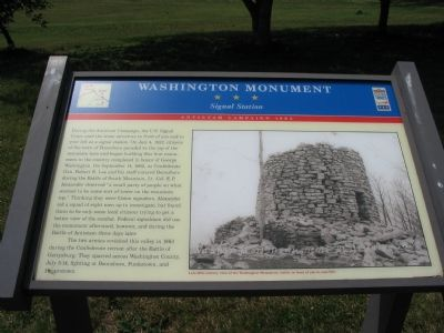 Washington Monument - Signal Station Marker image. Click for full size.