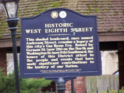 Historic West Eighth Street Marker image. Click for full size.