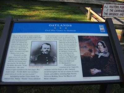 Oatlands Marker image. Click for full size.