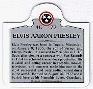 Photo of Elvis Presley Historical Marker Magnet Sold at Graceland image. Click for more information.