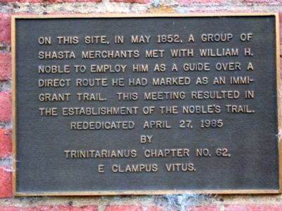 Noble's Trail Marker image. Click for full size.