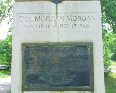 Col. Morgan Morgan Monument image. Click for full size.