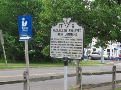 McClellan Relieved From Command Marker image. Click for full size.