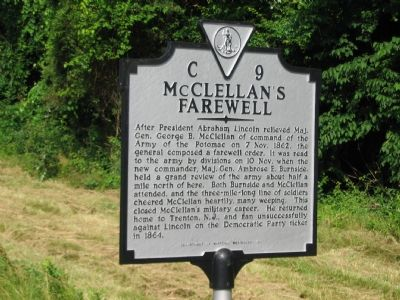 McClellan's Farewell Marker image. Click for full size.