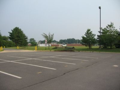The marker in the corner of the Loudoun Valley School parking lot image. Click for full size.