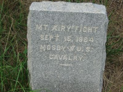 Mt. Airy Fight Marker image. Click for full size.