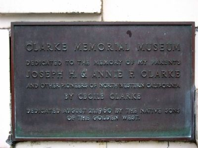 Clarke Memorial Museum Marker image. Click for full size.