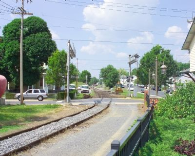 View of Tracks at Station, Northbound image. Click for full size.
