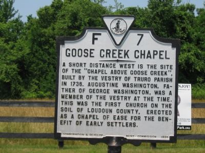 Goose Creek Chapel Marker image. Click for full size.