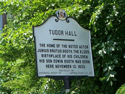 TUDOR HALL Marker image. Click for full size.