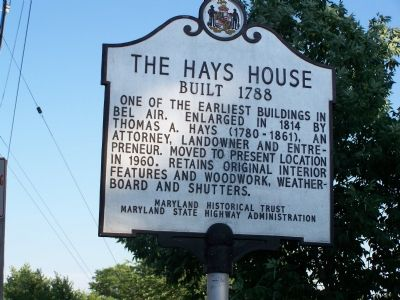 The Hays House Marker image. Click for full size.