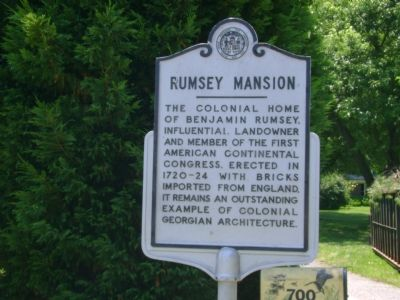 RUMSEY MANSION Marker image. Click for full size.