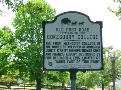 Cokesbury College Marker image. Click for full size.