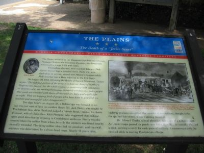The Plains Marker image. Click for full size.