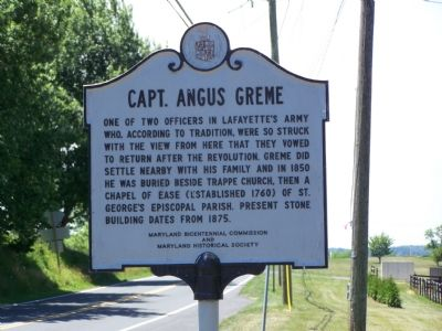 CAPT. ANGUS GREME Marker image. Click for full size.