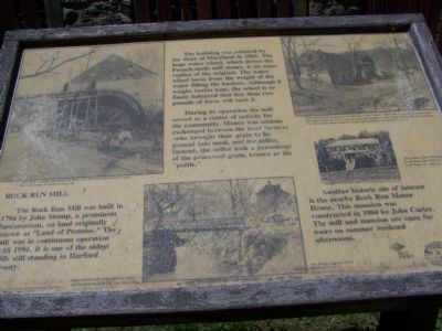 Rock Run Mill Marker image. Click for full size.