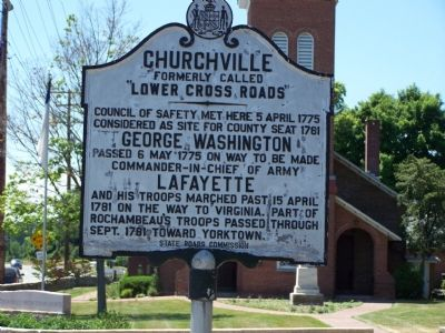 Churchville Marker image. Click for full size.