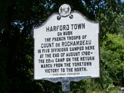 Harford Town Marker image. Click for full size.
