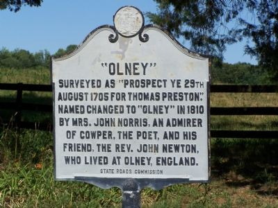 """OLNEY"" Marker image. Click for full size."