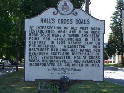 HALL'S CROSS ROADS Marker image. Click for full size.