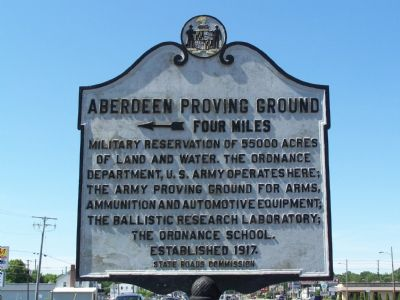 Aberdeen Proving Ground Marker image. Click for full size.