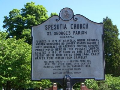 Spesustia Church Marker image. Click for full size.