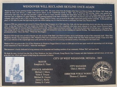 Wendover Will Reclaims Skyline Once Again Marker image. Click for full size.