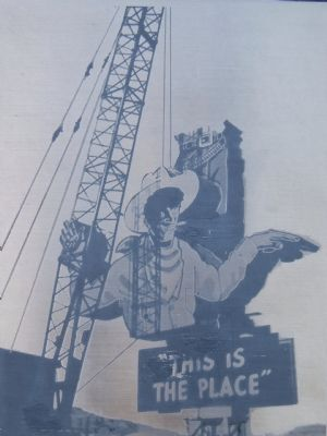 Erection of Wendover Will in 1952 image. Click for full size.