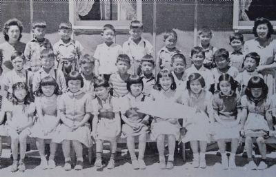 School children and their teachers at Topaz camp. image. Click for full size.