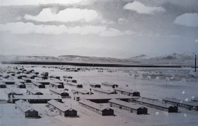Barracks where internees were housed. image. Click for full size.