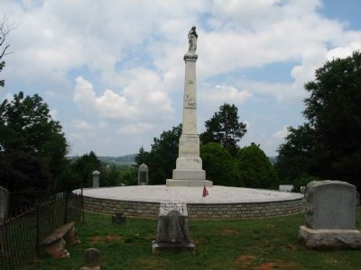 Confederate Monument in Warrenton Cemetery image. Click for full size.