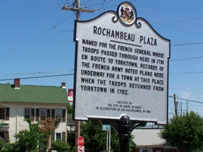 Rochambeau Plaza Marker image. Click for full size.