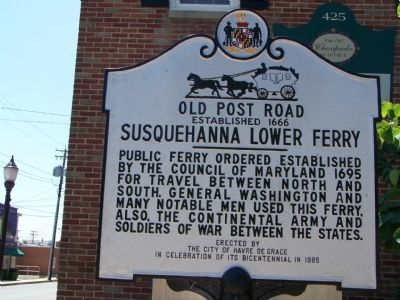 Susquehanna Lower Ferry Marker image. Click for full size.