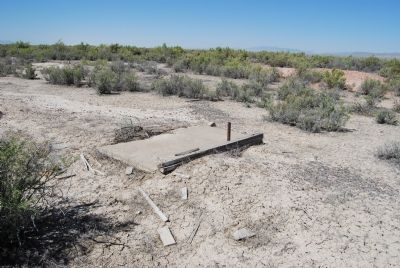 Remnants of building at Topaz. image. Click for full size.