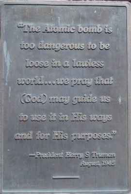 President Truman's Statement image. Click for full size.